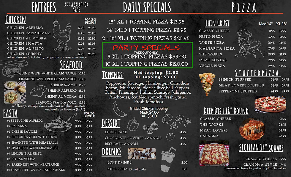 Modern Pizzeria Italian Takeout Menu-3 c