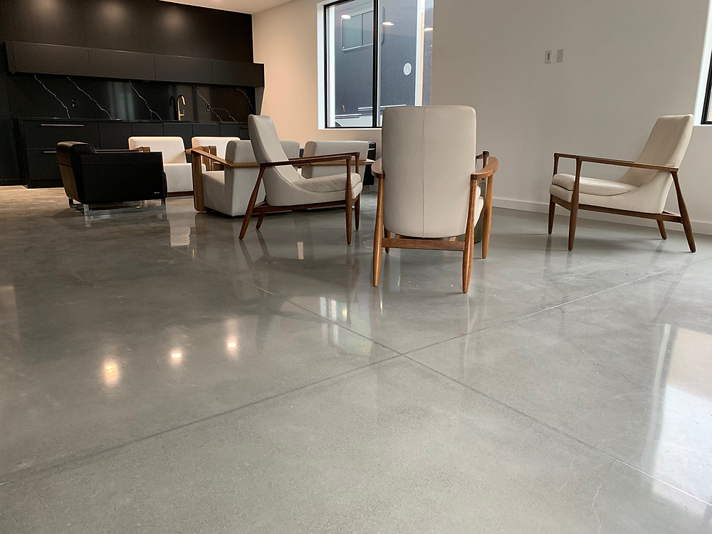 polished concrete floors in Euless, Texas