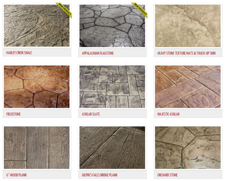 Stamped Concrete Patterns Dallas/Fort Worth, Texas