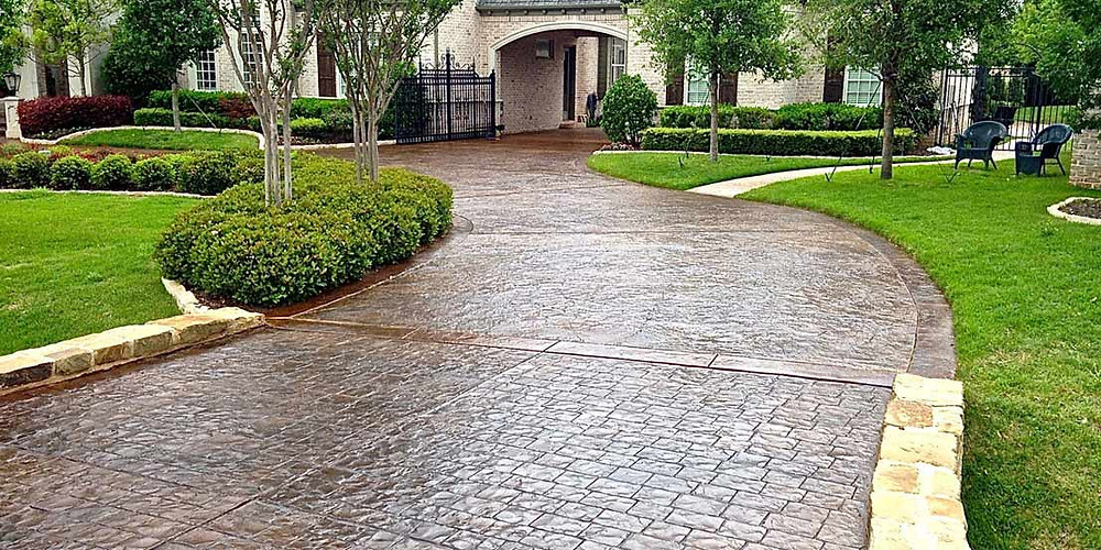 Stamped Concrete Driveway - Texan Concrete Specialist