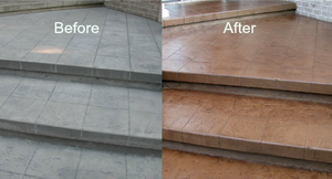 stamped concrete coloring in dallas/fort worth, texas