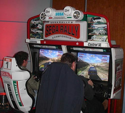 Sega Rally Twin Car Simulator