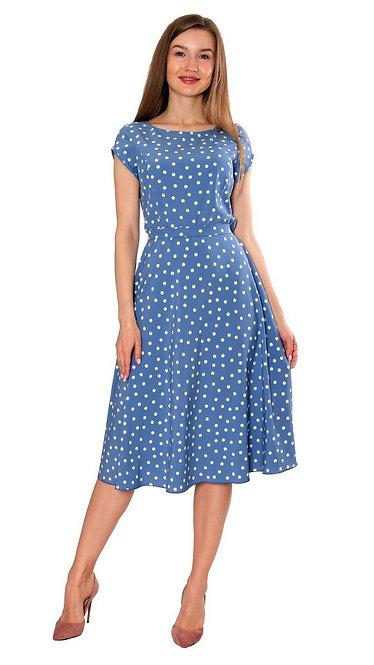 А 507 Платье TAR голубой