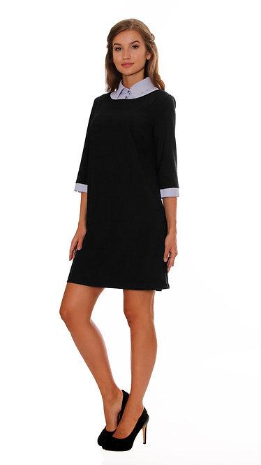 П 829 Платье AVI костюмка черная