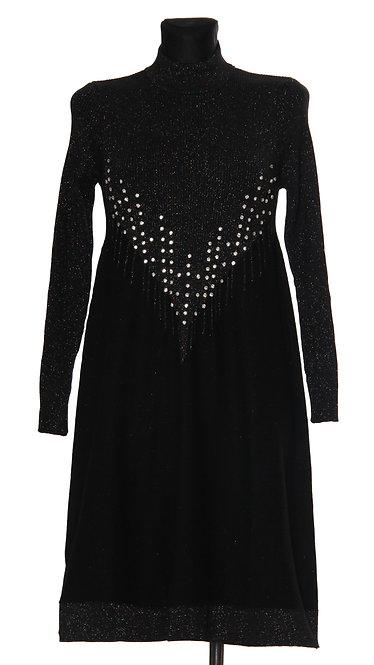 К 3122 Платье FGstore стразы черное
