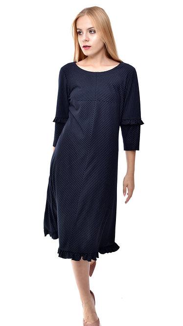 П 897 Платье TORT полоса синяя