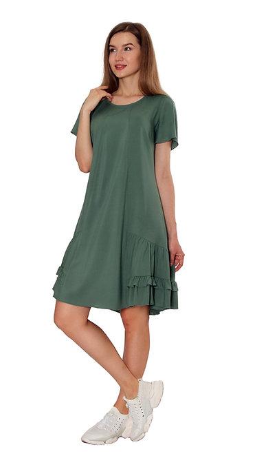 А 726 Платье NURA зеленое
