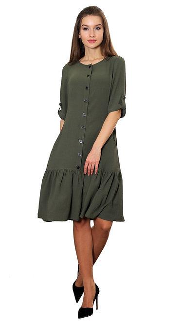 А 608 Платье Bali хаки