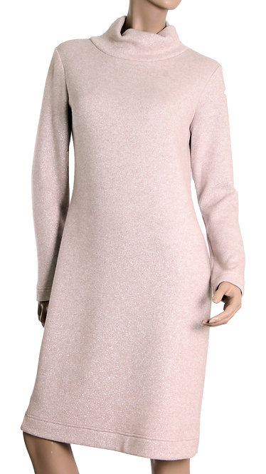 А 674 Платье LOVE ангора люрекс беж