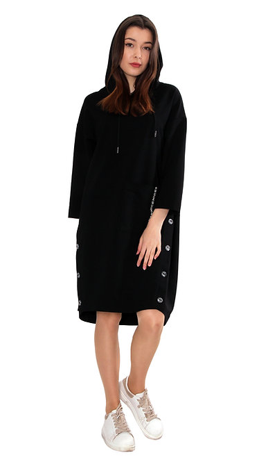 А 657 Платье XIN  черное