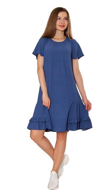 А 726 Платье NURA синее