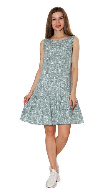 П 827 Платье FAMA штапель зеленый