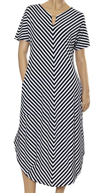 П 773/1 Платье PARK Короткий рукав сантиметровая полоса