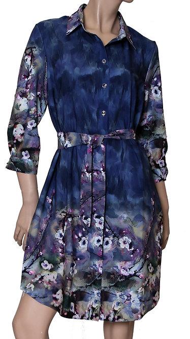К 3171 Платье-рубашка голубой