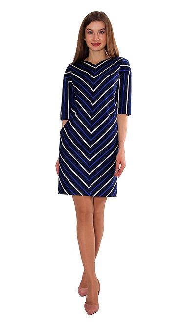 П 882 Платье ZI-ZI синее