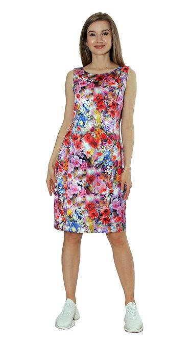 А 280/1 Платье Американка цветы