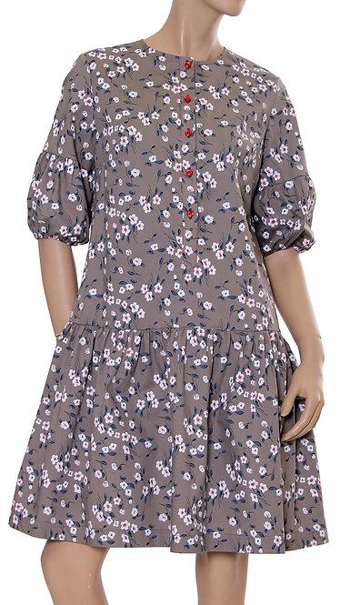 А 598 Платье KSENA коттон капучино
