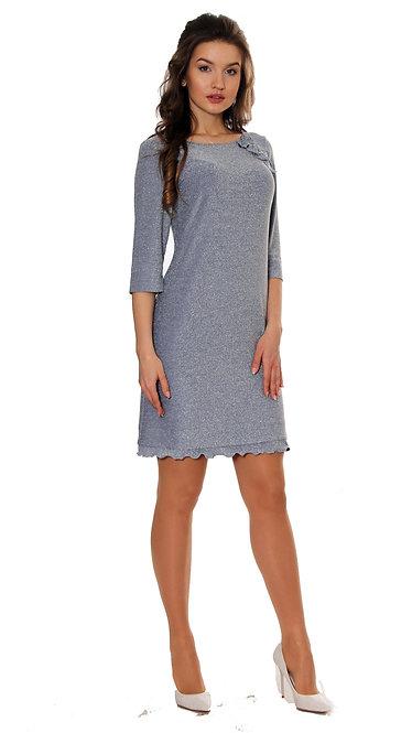 А 512 Платье GRI люрекс голубой