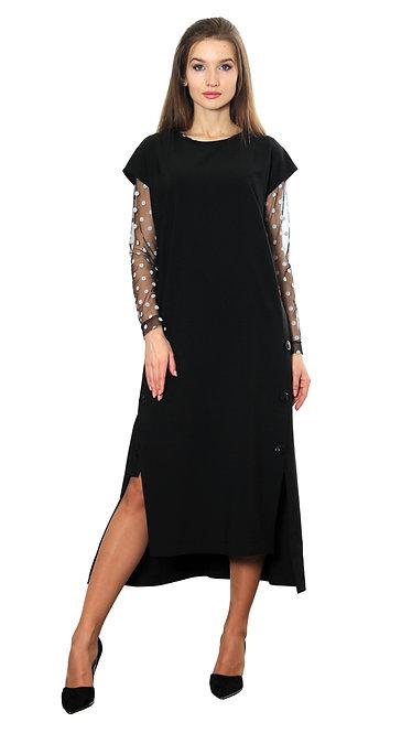 П 871 Платье-сарафан Issa черный