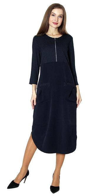 А 596 Платье OSA полоса синяя