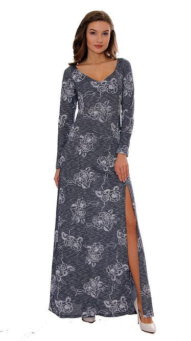 А 250 Платье SOT роза люрекс синий