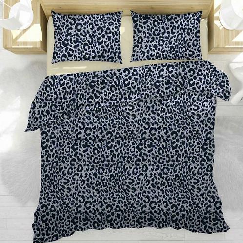 Комплект сатин леопард синий