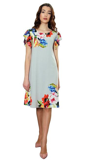 А 526 Платье GAMMA софт серый