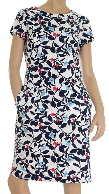 А 630 Платье EMOS синий лист