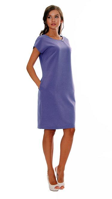 А 464 Платье NOVEMBER креп синий