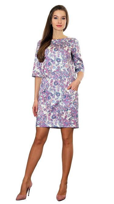 А 609 Платье ROSA петриковка