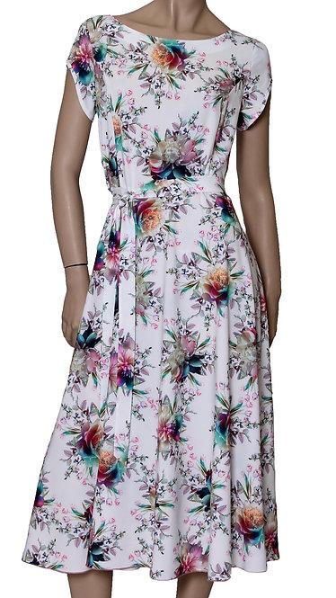 А 507 Платье TAR софт белый пион