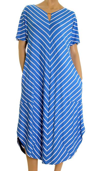 П 773/1 Платье Park полоса голубая