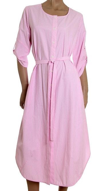 П 845 Платье Kafa розовая полоса