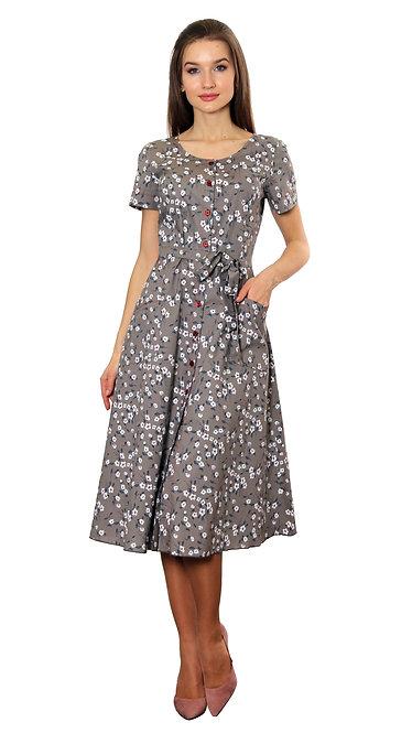 А 614 Платье JASMIN коттон капучино