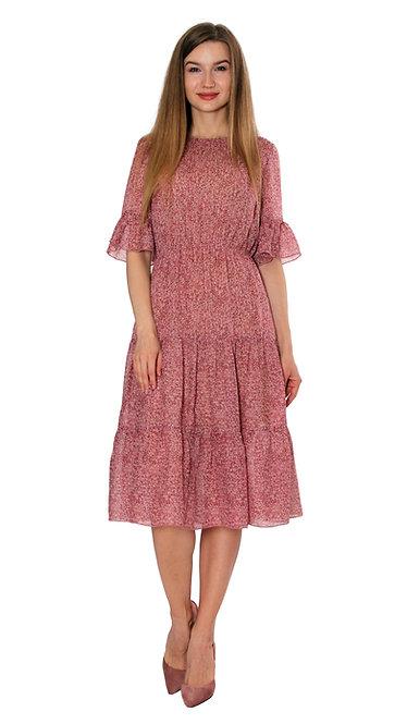 А 715 Платье VENUS шифон роз.