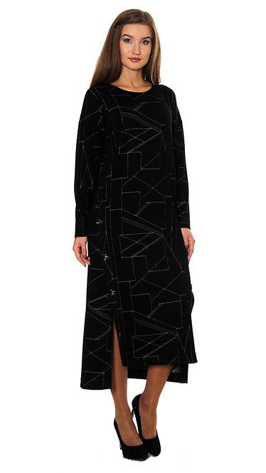 П 871/1 Платье ISSA черно-белый