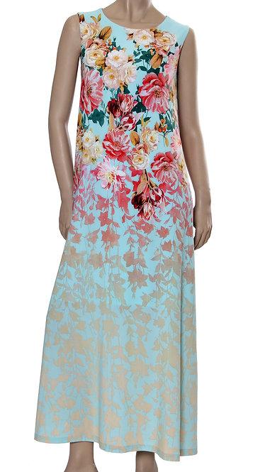 А 525 Платье OMEX бирюза купон
