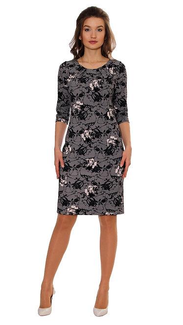 А 156 Платье Софиза черно-белая