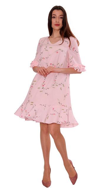 А 718 Платье VEGAS розовое