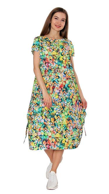 А 621 Платье CLAT желто-зеленый