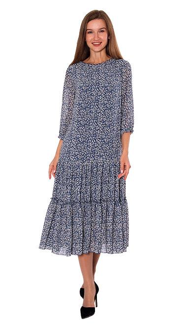 А 716 Платье JANA синее рукав
