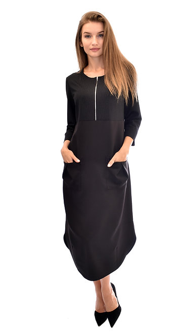 А 596 Платье OSA полоса черная