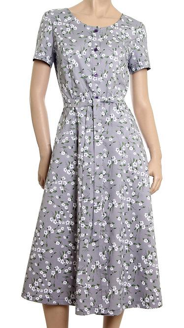 А 614 Платье JASMIN коттон серый