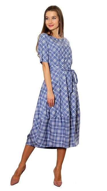А 607 Платье Sаmа голубое