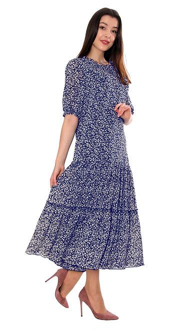 А 716 Платье JANA синий