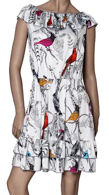 V 003 Платье LOL масло птички