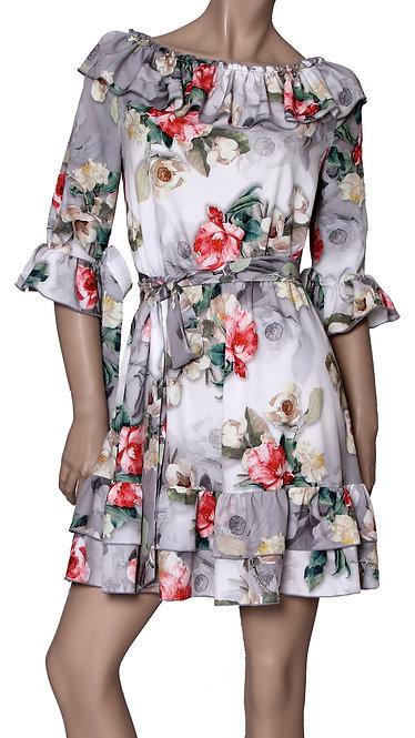V 001 Платье LOLI софт пион серый