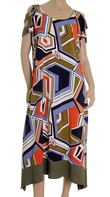 П 891 Платье TURO абстракция