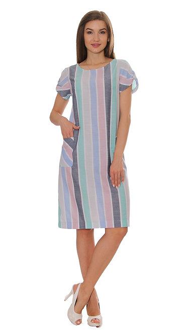 П 849 Платье Chika бирюза