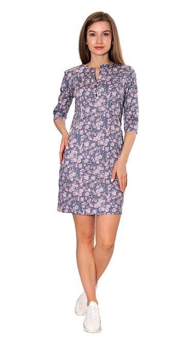 П 707 Платье Августа цветок